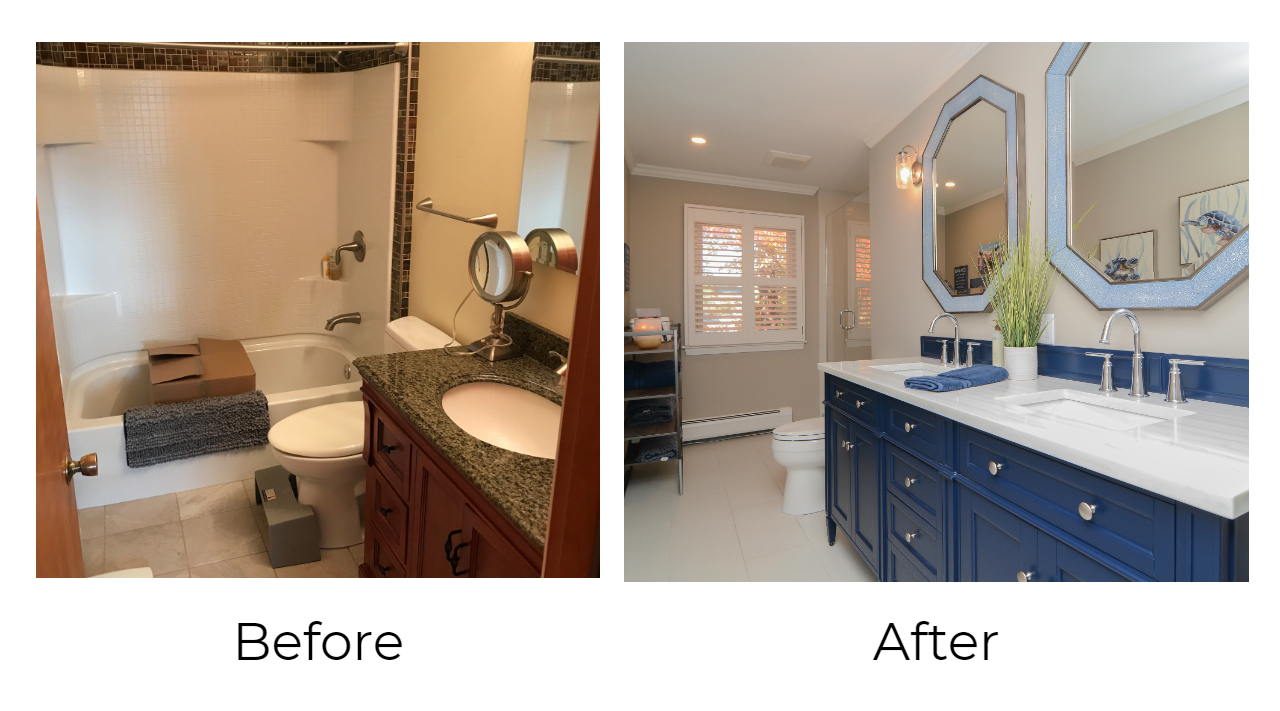 Barnes Guest Bath Before  After