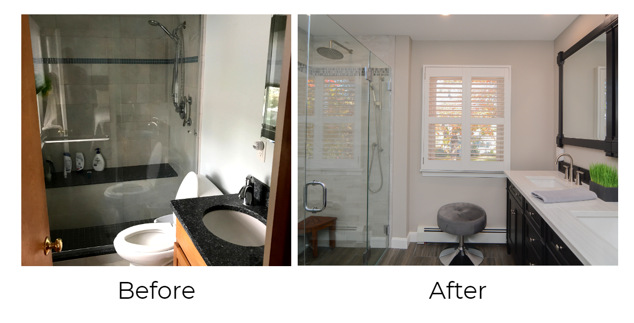 Barnes Master Bath Before  After